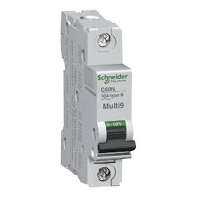 Schneider Electric / Square D MG24110 Multi 9™ Supplementary Protector; 1 Amp, 277 Volt AC, 65 Volt DC, 1-Pole, DIN Rail Mount