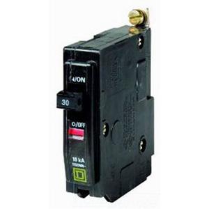 Schneider Electric / Square D QOB140 Miniature Circuit Breaker with Visi-Trip® Indicator; 40 Amp, 120/240 Volt AC, 48 Volt DC, 1-Pole, Bolt-On Mount