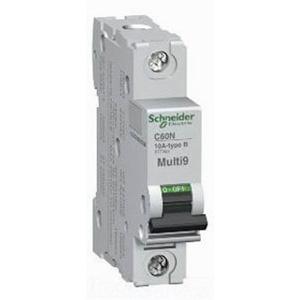 Schneider Electric / Square D MG24506 Multi 9™ Supplementary Protector; 10 Amp, 277 Volt AC, 65 Volt DC, 1-Pole, DIN Rail Mount