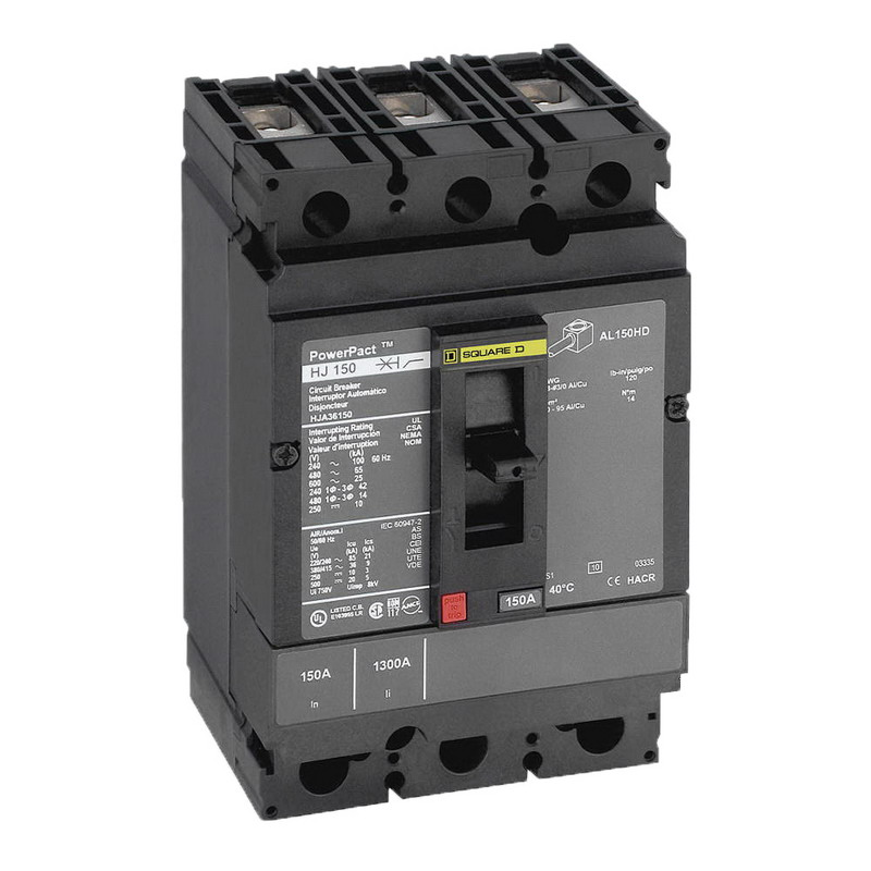 Schneider Electric / Square D HGL36125 PowerPact® Molded Case Circuit Breaker; 125 Amp, 600 Volt AC, 250 Volt DC, 3-Pole, Unit Mount