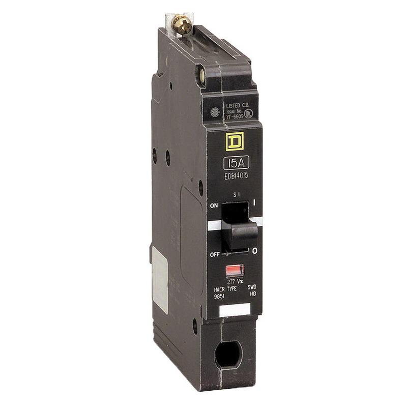 Schneider Electric / Square D  EDB14020 Lighting Panelboard Miniature Circuit Breaker; 20 Amp, 277 Volt AC, 1-Pole, Bolt-On Mount