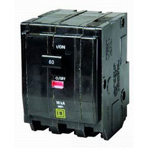 Schneider Electric / Square D QO3801021 QO™ Miniature Circuit Breaker with Shunt Trip; 80 Amp, 240 Volt AC, 3-Pole, Plug-On Mount