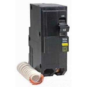 Schneider Electric / Square D  QO220GFI QO™ Qwik-Gard™ Ground Fault Miniature Circuit Breaker; 20 Amp, 120/240 Volt AC, 2-Pole, Plug-On Mount