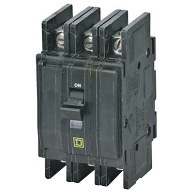 Schneider Electric / Square D QOU340 Miniature Circuit Breaker; 40 Amp, 240 Volt AC, 3-Pole, Unit Mount