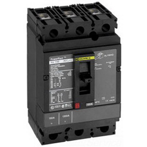Schneider Electric / Square D HJL36150 PowerPact® Molded Case Circuit Breaker; 150 Amp, 600 Volt AC, 250 Volt DC, 3-Pole, Unit Mount