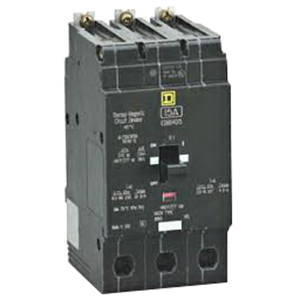 Schneider Electric / Square D EGB34040 Lighting Panelboard Miniature Circuit Breaker; 45 Amp, 480Y/277 Volt AC, 3-Pole, Bolt-On Mount
