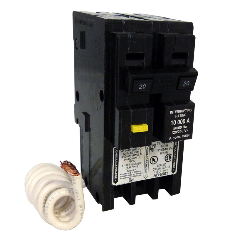 Schneider Electric / Square D HOM220EPD Homeline™ Miniature Circuit Breaker; 20 Amp, 120/240 Volt AC, 2-Pole, Plug-On Mount