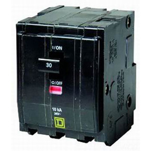 Schneider Electric / Square D QO380VH QO™ Miniature Circuit Breaker; 80 Amp, 240 Volt AC, 3-Pole, Plug-On Mount