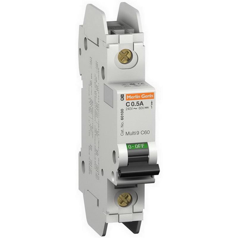 Schneider Electric / Square D 60124 Multi 9™ C60 Miniature Circuit Breaker; 6 Amp, 240 Volt AC, 60 Volt DC, 1-Pole, DIN Rail Mount