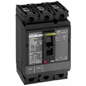 Schneider Electric / Square D HJL36125 PowerPact® Molded Case Circuit Breaker; 125 Amp, 600 Volt AC, 250 Volt DC, 3-Pole, Unit Mount