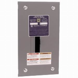 Schneider Electric / Square D QO24L70F Fixed Main Lug Load Center; 70 Amp, 120/240 Volt AC, 1 Phase, 2 Space, 4 Circuit, 3-Wire, Flush