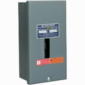 Schneider Electric / Square D  QO24L70S Fixed Main Lug Load Center; 70 Amp, 120/240 Volt AC, 1 Phase, 2 Space, 4 Circuit, 3-Wire, Surface