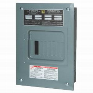 Schneider Electric / Square D QO612L100F Fixed Main Lug Load Center; 100 Amp, 120/240 Volt AC, 1 Phase, 6 Space, 12 Circuit, 3-Wire, Surface Without Door