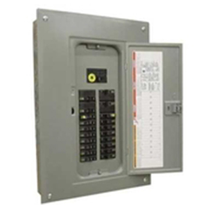 Schneider Electric / Square D QO612L100DS Fixed Main Lug Load Center; 100 Amp, 120/240 Volt AC, 1 Phase, 6 Space, 12 Circuit, 3-Wire, Surface With Door