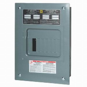 Schneider Electric / Square D QO816L100F Fixed Main Lug Load Center; 100 Amp, 120/240 Volt AC, 1 Phase, 8 Space, 16 Circuit, 3-Wire, Flush