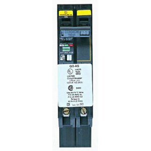 Schneider Electric / Square D QOB220AS Miniature Circuit Breaker with Visi-Trip Indicator 20 Amp, 120/240 Volt AC, 48 Volt DC, 2-Pole, Bolt-On Mount,""