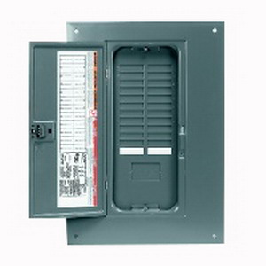 Schneider Electric/Square D QOC24UF QO™ Load Center Replacement Cover With Door; Flush Mount, NEMA 1, For QO124M125, QO124M100, QO116L125G, QO11624L125G, QO12024L125G, QO124L125G