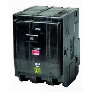 "Schneider Electric / Square D QO3701021 QO Miniature Circuit Breaker with Shunt Trip 70 Amp, 240 Volt AC, 3-Pole, Plug-On Mount,"""