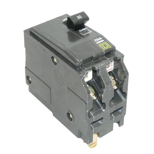 Schneider Electric / Square D QOB2125VH Miniature Circuit Breaker with Visi-Trip Indicator 125 Amp, 120/240 Volt AC, 2-Pole, Bolt-On Mount,""