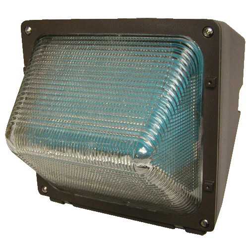 Hubbell Lighting WGH100H 1-Light Metal Halide Outdoor Compact Wall Pack; 100 Watt, Dark Bronze, Lamp Included