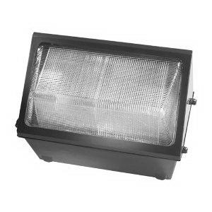 Hubbell Lighting WGH-150S 1-Light Medium Size High Pressure Sodium Wall Pack; 150 Watt, Dark Bronze, Lamp Included