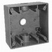 Thepitt TP7086 2-Gang Weatherproof Outlet Box and Extension; 3 Outlets, 1/2 Inch, (1) Back, (1) Each End, Gray, Feet Mount