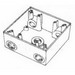Thepitt TP7106 2-Gang Weatherproof Outlet Box and Extension; 5 Outlets, 3/4 Inch, (1) Back, (2) Each End, Gray, Feet Mount