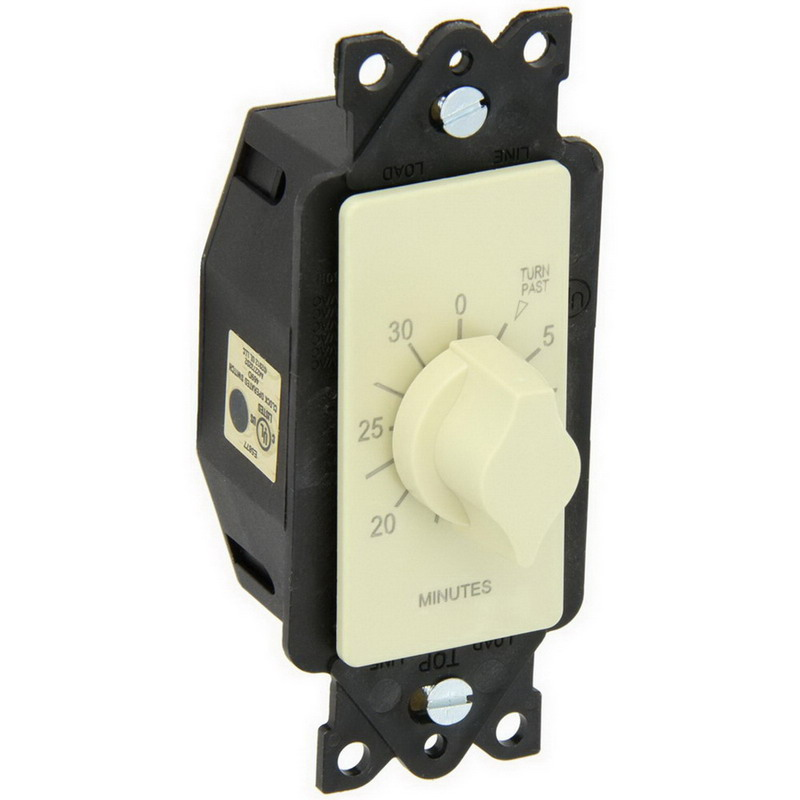 NSI A530M Tork® A Series Auto-Off Springwound Timer Switch; 30 min, Ivory, SPST