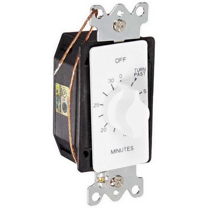NSI A530MW Tork® A Series Auto-Off Springwound Timer Switch; 30 min, White, SPST