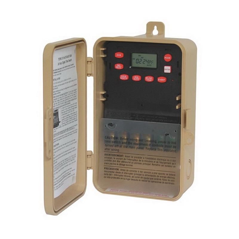 NSI E103B Tork® Timer Switch; 1 min, Tan, DPST, 120 - 277 Volt AC