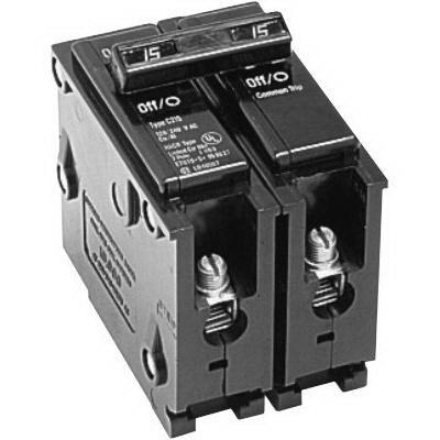 Eaton / Cutler Hammer BR220 Circuit Breaker; 20 Amp, 120/240 Volt AC, 2-Pole, Plug-On Mount