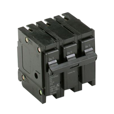 Eaton / Cutler Hammer BR315 Circuit Breaker; 15 Amp, 240 Volt AC, 3-Pole, Plug-On Mount