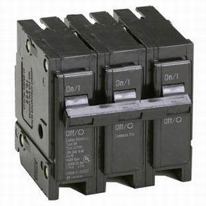 Eaton / Cutler Hammer BR3100 Circuit Breaker; 100 Amp, 240 Volt AC, 3-Pole, Plug-On Mount