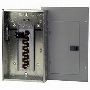 Eaton / Cutler Hammer BR2020B100 Main Circuit Breaker Load Center; 100 Amp, 120/240 Volt AC, 1 Phase, 20 Space, 20 Circuit, 3-Wire, Flush/Surface