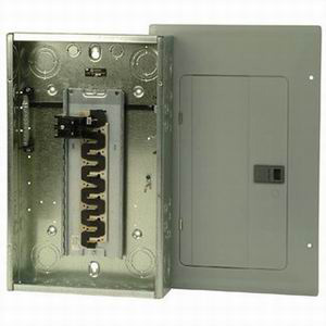 Eaton / Cutler Hammer BR1220B100 Main Circuit Breaker Load Center; 100 Amp, 120/240 Volt AC, 1 Phase, 12 Space, 20 Circuit, 3-Wire, Flush/Surface