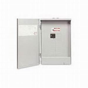 Eaton / Cutler Hammer BR1624B100R Rainproof Main Circuit Breaker Load Center; 100 Amp, 120/240 Volt AC, 1 Phase, 16 Space, 24 Circuit, 3-Wire