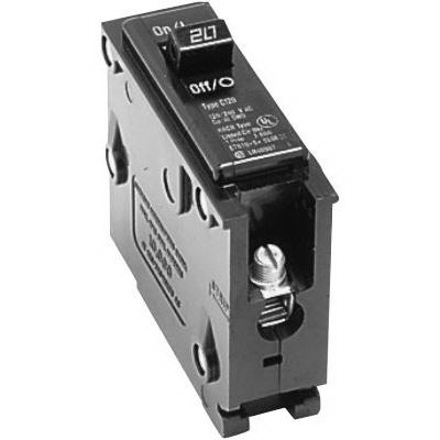 Eaton / Cutler Hammer BR125 Circuit Breaker; 25 Amp, 120/240 Volt AC, 1-Pole, Plug-On Mount