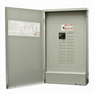 Eaton / Cutler Hammer BR2024B100R Rainproof Main Circuit Breaker Load Center; 100 Amp, 120/240 Volt AC, 1 Phase, 20 Space, 24 Circuit, 3-Wire