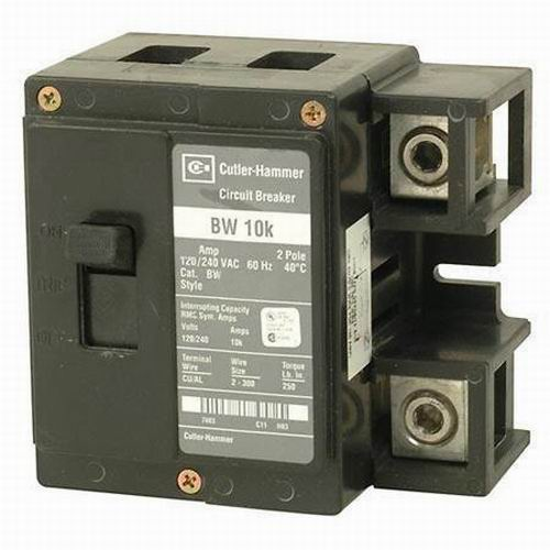 Eaton / Cutler Hammer BW2150 Circuit Breaker; 150 Amp, 120/240 Volt AC, 2-Pole, Plug-On Mount