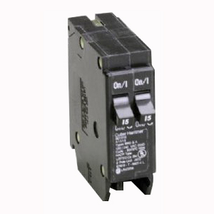 Eaton / Cutler Hammer BR1520 Circuit Breaker; (1) Single Pole 20 Amp, (1) Single Pole 15 Amp, 120 Volt AC, 1-Pole, Plug-On Mount