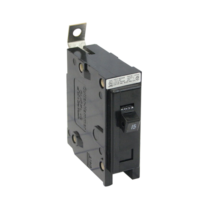 Eaton BAB1020 QuickLag Circuit Breaker; 20 Amp, 120/240 Volt AC, 1-Pole, Bolt-On Mount