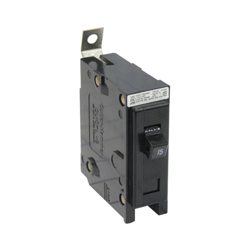 Eaton / Cutler Hammer BAB1015 QuickLag® Circuit Breaker; 15 Amp, 120/240 Volt AC, 1-Pole, Bolt-On Mount
