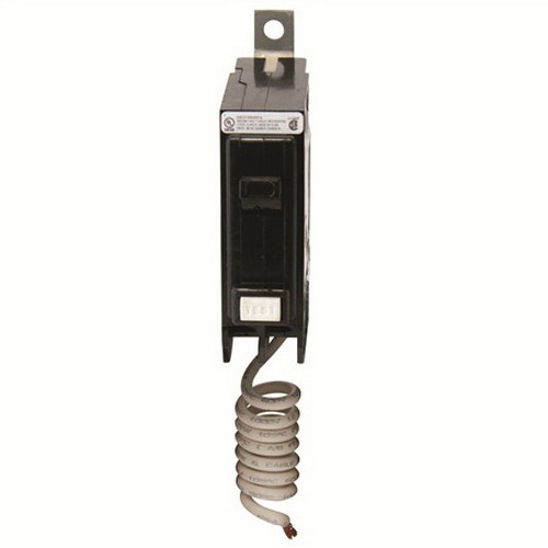 Eaton / Cutler Hammer QBGF1020 QuickLag® Ground Fault Miniature Circuit Breaker; 20 Amp, 120 Volt AC, 1-Pole, Bolt-On Mount