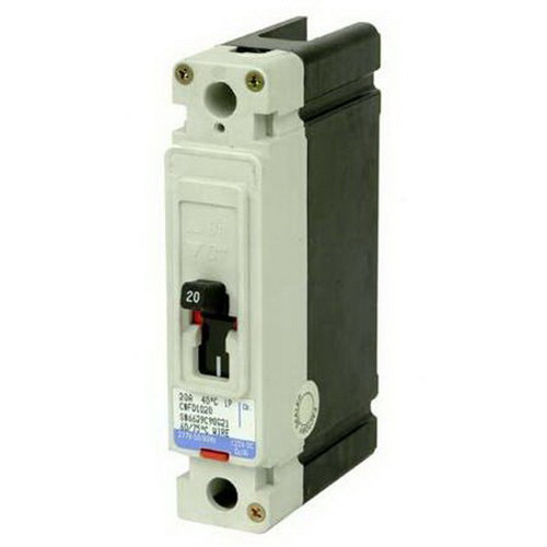 Eaton / Cutler Hammer EHD1020 Series C Molded Case Circuit Breaker; 20 Amp, 277 Volt AC, 125 Volt DC, 1-Pole, Panel Mount