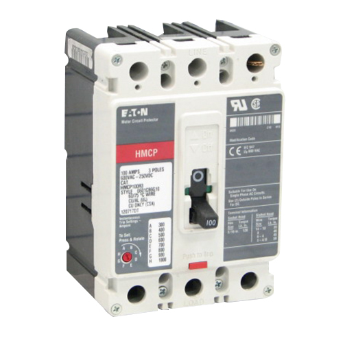 Eaton / Cutler Hammer HMCP100R3 Series C Molded Case Motor Circuit Breaker; 100 Amp, 600 Volt AC, 250 Volt DC, 3-Pole