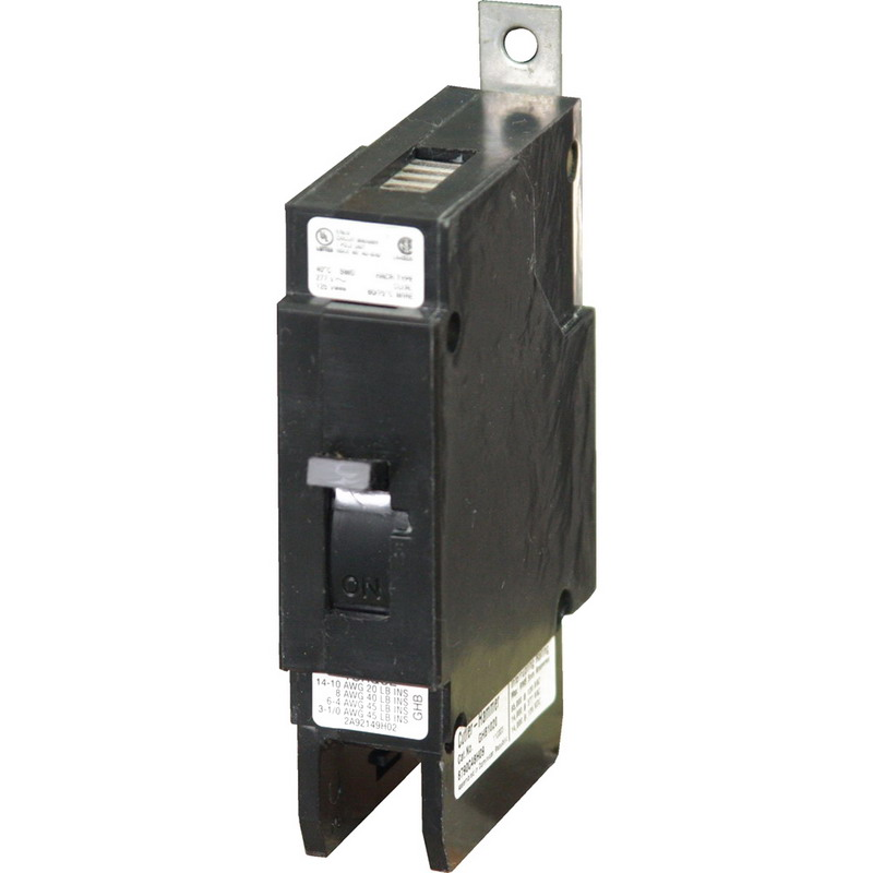 Eaton / Cutler Hammer GHB1020 Series C Molded Case Circuit Breaker; 20 Amp, 277 Volt AC, 125 Volt DC, 1-Pole, Bolt-On Mount