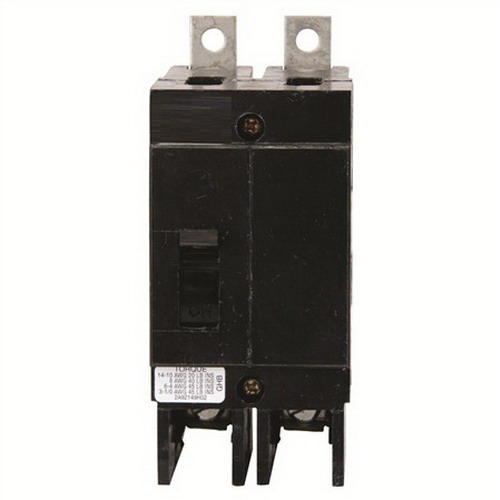 Eaton / Cutler Hammer GHB2060 Series C Molded Case Circuit Breaker; 60 Amp, 277/480 Volt AC, 125/250 Volt DC, 2-Pole, Bolt-On Mount