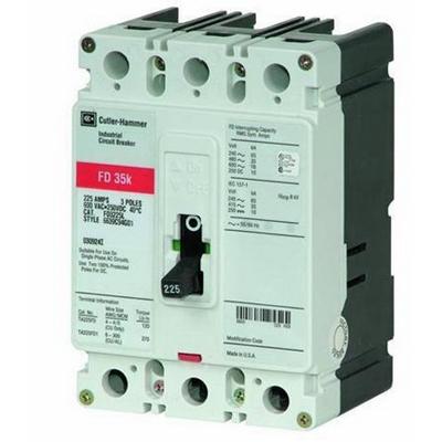 Eaton / Cutler Hammer FD3060 Series C Molded Case Circuit Breaker; 60 Amp, 600 Volt AC, 250 Volt DC, 3-Pole