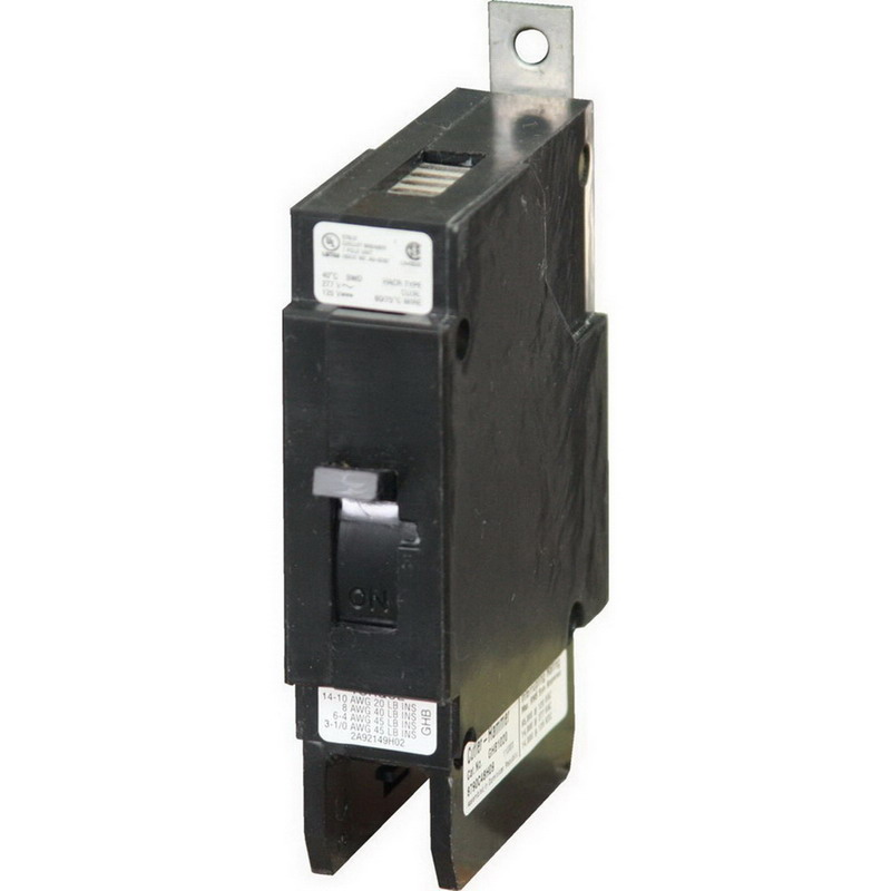 Eaton / Cutler Hammer GHB1030 Series C Molded Case Circuit Breaker; 30 Amp, 277 Volt AC, 125 Volt DC, 1-Pole, Bolt-On Mount