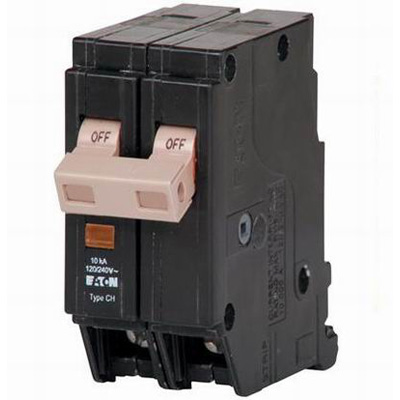 Eaton / Cutler Hammer CHF220 Circuit Breaker With Trip Flag 20 Amp, 120/240 Volt AC, 2-Pole, Plug-On Mount,""